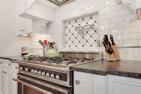 tile designs for kitchens silver pearl leathered granite countertop with white 6133