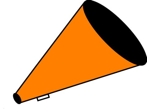 Megaphone Clip At Clker Vector Clip Blue And Orange Cheer Clipart Clipart Suggest