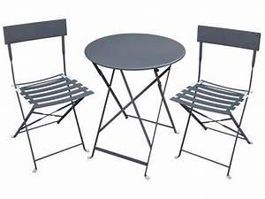 Table Et Chaise Jardin : table 2 chaises de jardin en m tal canebiere blanv ~ Teatrodelosmanantiales.com Idées de Décoration