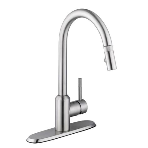 schon axel single handle pull down sprayer kitchen faucet