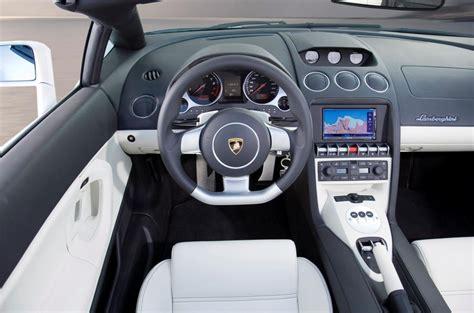 fast cars  lamborghini gallardo spyder interior