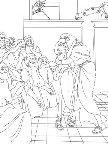 joseph forgives  brothers coloring page  printable coloring pages