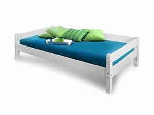 Bett 90x200 Weiß Massiv : yogi einzelbett kinderbett 90x200 kiefer wei ~ Bigdaddyawards.com Haus und Dekorationen