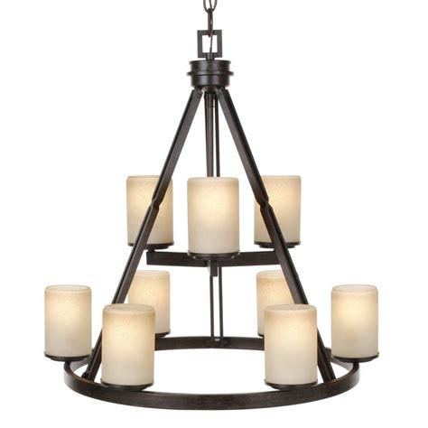 home depot ceiling chandeliers hton bay alta loma 9 light ridge bronze chandelier