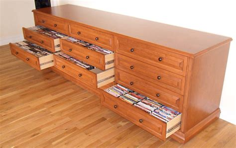 build a dvd cabinet media storage cabinets with drawers organize your blu