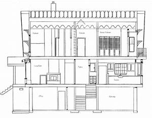 how to draw house cross sections With what kind of paint to use on kitchen cabinets for architectural drawings wall art