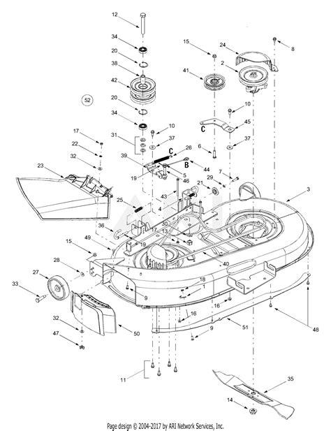 mtd atg  parts diagram  deck assembly