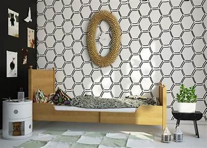 Bedroom Geometric Designs Decor Wallpapers Rooms Humpty
