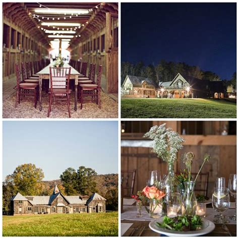 rustic chic barn wedding venues  georgia  farm