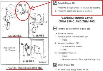 Th400 Kickdown Switch Wiring Diagram by Th400 Elec Kickdown Switch On Pedal The 1947 Present