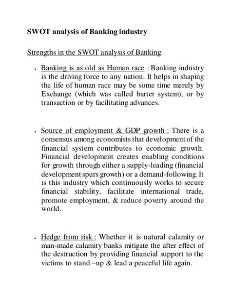 Study on banking sector