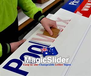 Signs roadside quotchangeable signsquot albury for Vinyl letter making machine