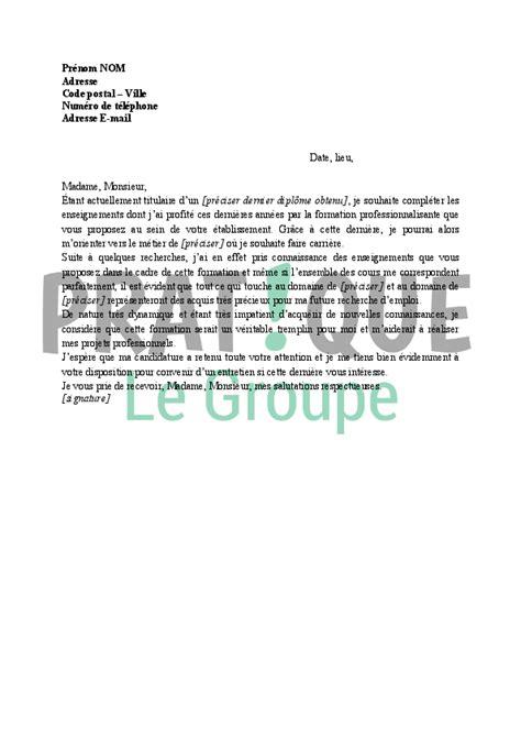 lettre de motivation pour formation pratique fr