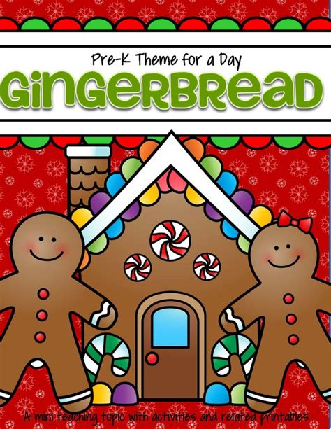 theme activities and printables for preschool pre k and 456 | pre k theme for a day gingerbread page 01 orig