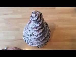 Sapin En Papier Plié : sapin de no l en papier journal youtube ~ Melissatoandfro.com Idées de Décoration