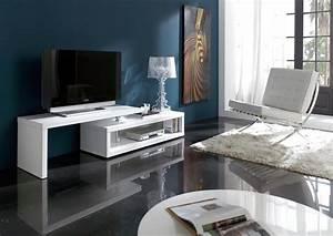 Meuble Tv Original : acheter votre meuble t l original laqu blanc plateau amovible chez simeuble ~ Teatrodelosmanantiales.com Idées de Décoration