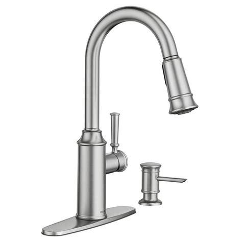 clean kitchen faucet moen glenshire single handle pull sprayer kitchen