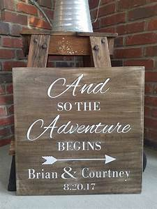 And So the Adventure Begins Wood Sign Rustic wood sign