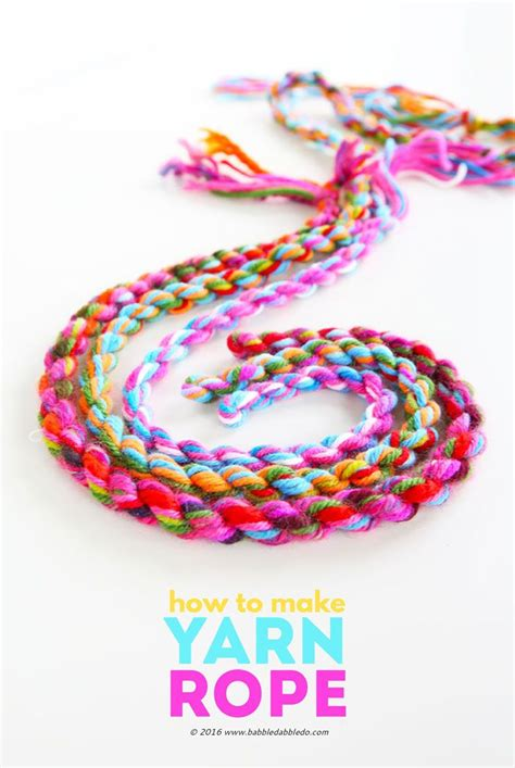 yarn craft idea    yarn rope easy yarn crafts