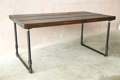 steel pipe desk legs handmade wooden coffee table with u shaped galvanized
