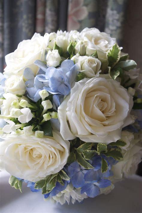 arley hall wedding white  blue wedding flowers