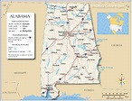 Map of Alabama State, USA - Nations Online Project