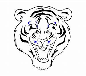 How To Draw A Tiger Face In A Few Easy Steps