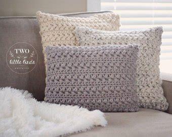 crochet throw pillow crochet pillow cover etsy