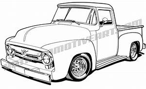 1956 clipart clipground With 1955 ford f100 red