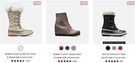 canada sorel save year shopping start