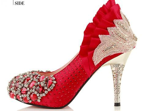 Dazzling Red Pencil Heels Shoes for Parties   NationTrendz.Com
