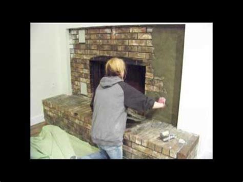 Refacing A Fireplace With Stone Veneer by Chic On The Cheap Fireplace Makeover Youtube