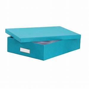 Boite De Rangement Bureau : bo te de rangement a4 en carton turquoise rangement bureau ~ Melissatoandfro.com Idées de Décoration