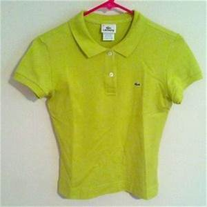 off Lacoste Tops Lacoste polo neon green from