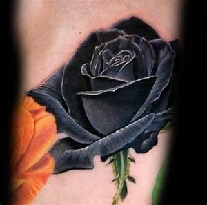 Mini Tattoos Männer : 80 black rose tattoo designs f r m nner dark ink ideen ~ Frokenaadalensverden.com Haus und Dekorationen