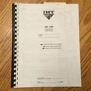 Imt Af150 Drilling Rig Spare Parts Manual Catalog Soil
