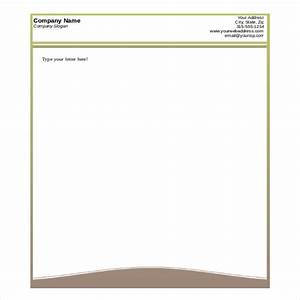 free printable business letterhead templates letter of With custom letter stationery