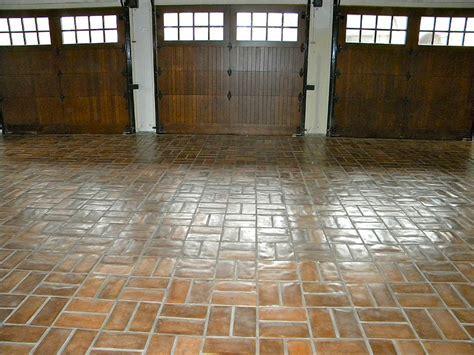Concrete tiles garage floor wax on finish   WOW Group