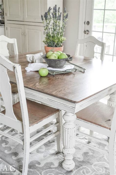 dining table updated with chalk paint in 2019 best diy ideas