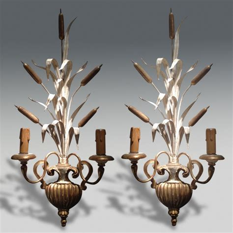 tuscan decorative wall light pair of wall lights stock christopher jones antiques