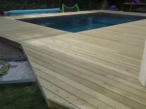 Tour De Piscine Bois : tour de piscine en bois pose terrasse bois landes ~ Premium-room.com Idées de Décoration