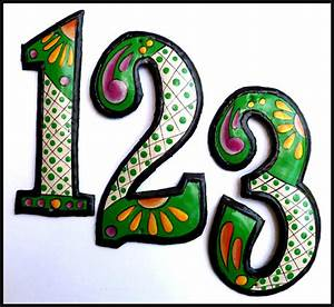 handcrafted hand painted metal house numbers outdoor With metal outdoor letters and numbers