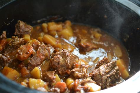 veal stew crock pot beef stew in the crock pot recipe dishmaps
