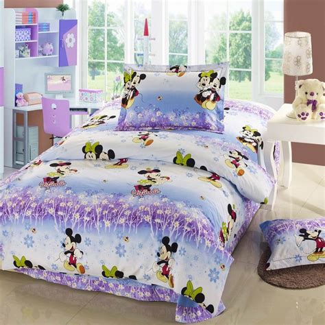 size minnie mouse bedding purple and blue mickey minnie mouse size