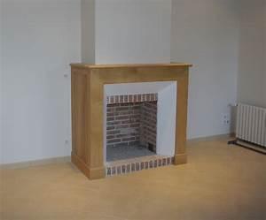 Cheminee Exterieur Bois : emejing habillage de cheminee ideas ~ Premium-room.com Idées de Décoration