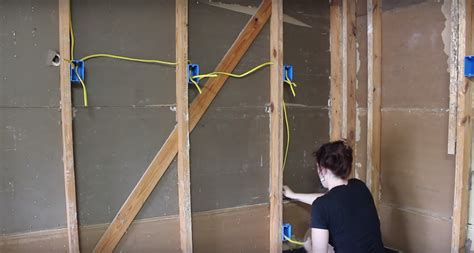 how to wire an attic electrical outlet and light insulating a garage adding outlets and installing osb