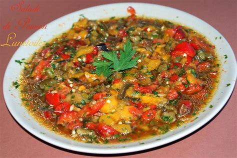 cuisine algerienne hmiss salade de poivrons amour de cuisine