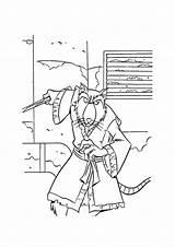 Ninja Splinter Turtles Coloring Tartarughe Ausmalbilder Colorare Ausmalbild Mutant Teenage Parentune Child Sheets Disegnidacolorare Printable Kostenlos sketch template