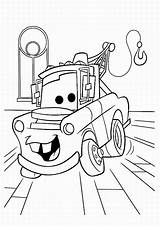 Coloring Cars Pages Colouring Printable Disney Mater Pixar Truck Characters sketch template