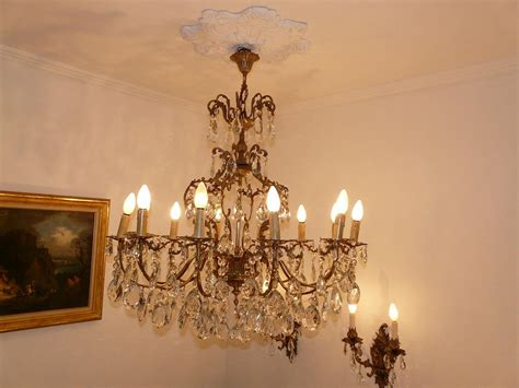lustre en cristal ancien 28 images lustre ancien en bronze et pilles de cristal de forme
